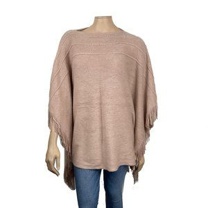 Layers by Lizden Fringed Poncho Sweater